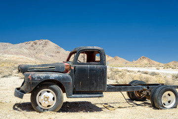 The old car in the desert, Death Valley, California