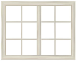 Vector window frame isolated.