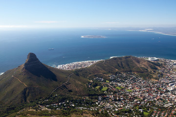 Lion's Head, Signal Hill and Robben Island