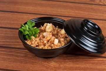 Shrimps risotto
