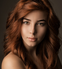 Fototapeta Portrait of a girl with long hair