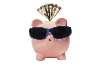 Piggy Bank For Vacation Savings