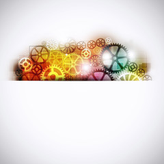 Abstract Gears Multicolor Background