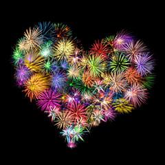 Herzliches Feuerwerk