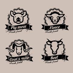 Farm animals. Vector format