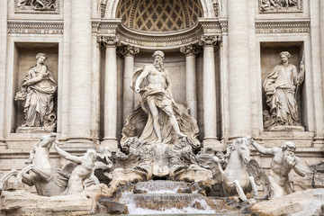 Canvas Prints Rome Rome, Italy. The fountain of Trevi - one of symbols of Rome