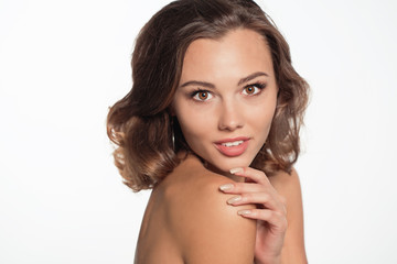 Beautiful model portrait in studio