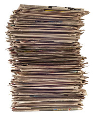 Tall Stack of Newspapers