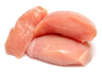 Raw chicken fillets
