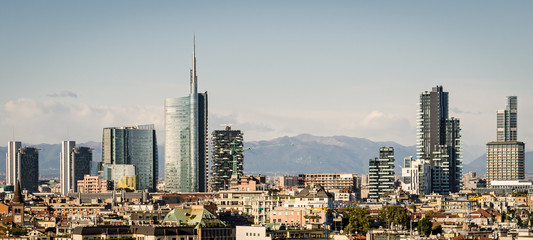 Wall Murals Milan Milano (Italy), skyline with new skyscrapers