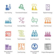 SEO & Usability Icons Set 1 - Coloré Series