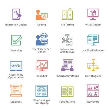 SEO & Usability Icons Set 2 - Coloré Series