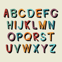 Cartoon alphabet.