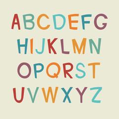 Cartoon alphabet.