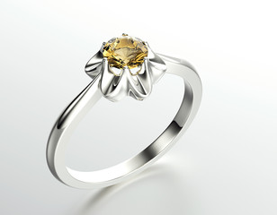 Wedding Ring with diamond. Fashion Jewelry background