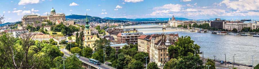 Printed kitchen splashbacks Budapest Budapest Royal Palace morning view.
