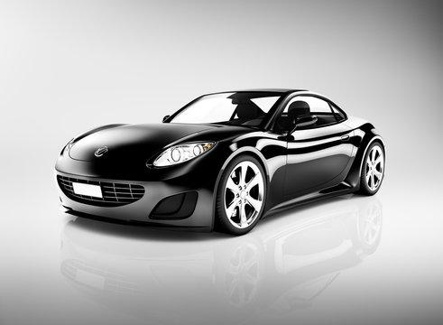 Contemporary Black Shinny Sport Car
