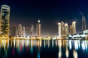 Dubai downtown. East, United Arab Emirates architecture