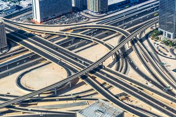Road junction in Dubai