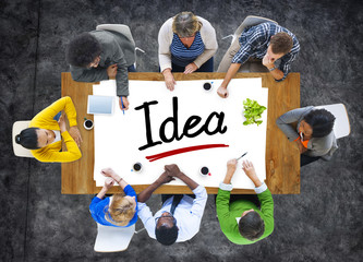 Multiethnic Group of People with Idea Concepts