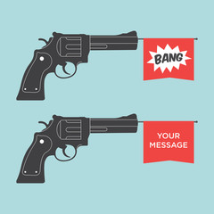 toy gun illustration vector