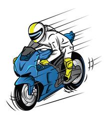 Printed kitchen splashbacks Newspapers Moto Race
