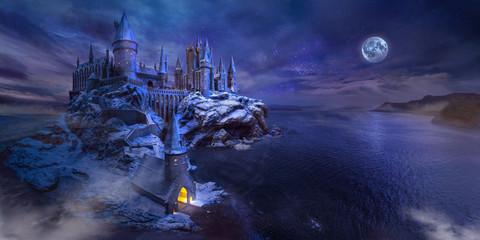 Fotobehang Kasteel midnight castle