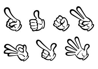 コミック風_様々な手の表現