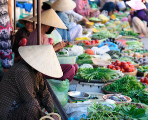Colour markets in Vietnam in Hoi An