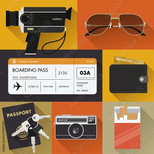 """Vintage travel items"" 스톡 이미지, 로열티프리 벡터 파일 : Fotolia.com ..."