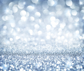 christmas background - shining glitter - heaven silver