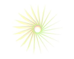 Kleurige abstracte draaiende ster