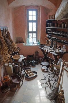 Blick in historischer Küche