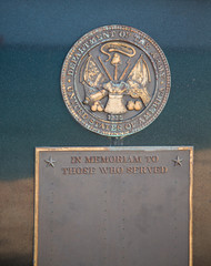 Army Plaque on Granite Stone