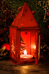 Red christmas candlestick