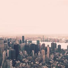 Manhattan from atop of a Skyscraper