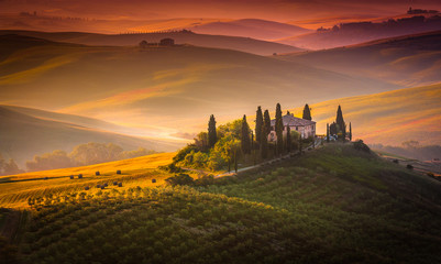 Printed kitchen splashbacks Tuscany Sunrise