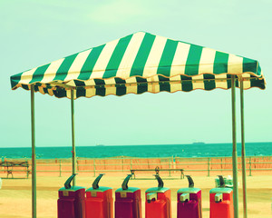 Vintage tent in the beach
