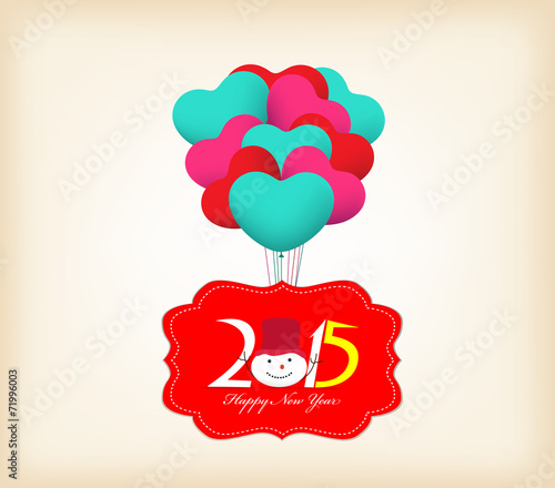 Happy new year 2015 greetings with balloons fly stock image and happy new year 2015 greetings with balloons fly m4hsunfo