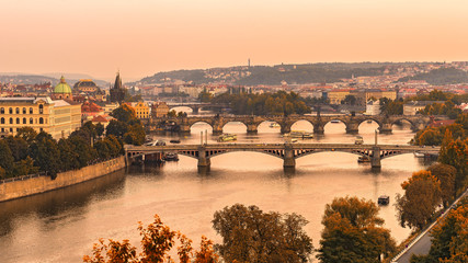 Wall Mural - Old bridges of Prague