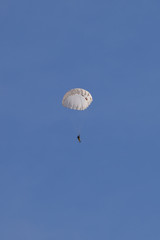 Paratrooper in the sky