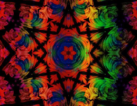 Multicolor mandala
