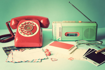 Retro Radio and Telephone