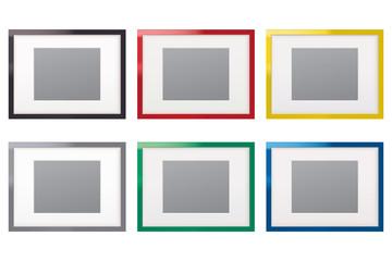 Paper frames. Set. Vector illustration