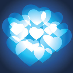 Blue Hearts Valentine Background