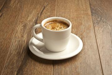Turkish Coffee wooden background