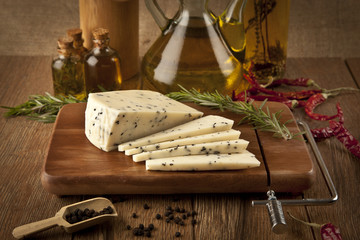 Cumin feta cheese concept photo