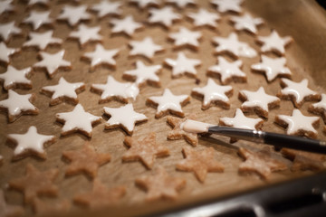 Baking of honey- star cake