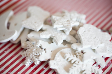 white handmade christmas decoration