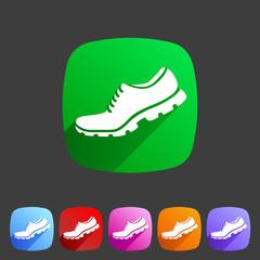 Running shoe, sneaker, trainer flat icon